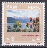 Nepal 1989 Wirtschaft Economy Tourismus Tourism Rara-Nationalpark Blumen Flowers Seen Lakes Berge Mountains, Mi. 500 ** - Nepal