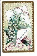 CPA-Carte Postale France-Heureuse Année Avec Un Bouquet De Muguets  VM7225 - Nouvel An