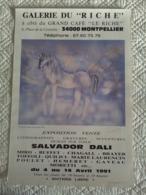 AFFICHE ANCIENNE ORIGINALE SALVADOR DALI LICORNE 1991 MONTPELLIER - Manifesti
