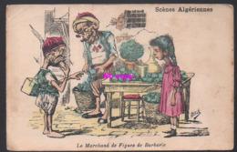 REF 375 : CPA Algérie Scènes Algériennes Le Marchand De Figue De Barbarie Par Assus - Algérie