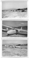 Planeur, Aéroplane  5 Photos    7 X 10 Cm - Luftfahrt