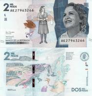 COLOMBIA        2000 Pesos        P-458[d]       24.7.2018        UNC - Colombia