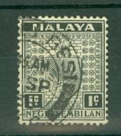 Negri Sembilan: 1935/41   Arms     SG21    1c     Used - Negri Sembilan