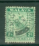 Negri Sembilan: 1935/41   Arms     SG22    2c   Green  Used - Negri Sembilan