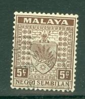 Negri Sembilan: 1935/41   Arms     SG26    5c     Used - Negri Sembilan