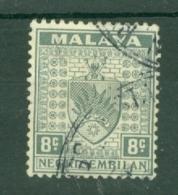 Negri Sembilan: 1935/41   Arms     SG29    8c       Used - Negri Sembilan