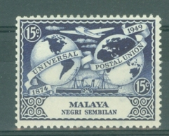 Negri Sembilan: 1949   U.P.U.   SG64   15c    MH - Negri Sembilan