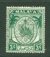 Negri Sembilan: 1949/55   Arms     SG44    3c     Used - Negri Sembilan