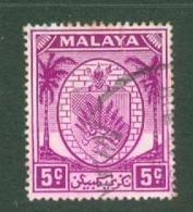 Negri Sembilan: 1949/55   Arms     SG46    5c   Bright Purple    Used - Negri Sembilan