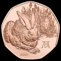Austria. 5 Euro. A. Duerer. Hare. UNC. 2016 - Oostenrijk