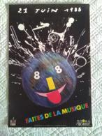 AFFICHE ANCIENNE ORIGINALE FETE DE LA MUSIQUE 1988 - Posters