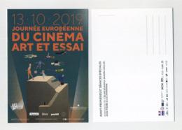 CP Pub Neuve Thème Cinéma - Journée Européenne Du Cinéma Art Et Essai 13 Octobre 2019. Sciamma Hüller Dardenne - Posters On Cards
