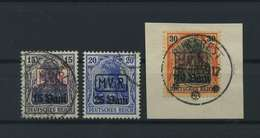 MV IN RUMAENIEN 1917 Nr 1-3 Gestempelt (117732) - Besetzungen 1914-18