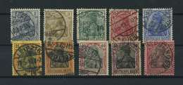 DEUTSCHES REICH 1902 Nr 68-77 Gestempelt (118011) - Deutschland