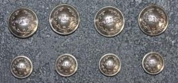 """Lot De 8 Boutons D'uniforme """"Police"""" Police Nationale - Buttons"""