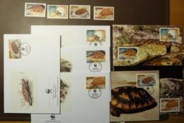 Tansania Tanzania 1993 WWF Spaltenschildkröte Pancake Tortoise  Mi 1204 -7 Maxi Card FDC MNH ** #cover 4924 - W.W.F.