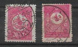 B12 - Empire OTTOMAN - Poste 122 Et 147 ( 1909 - 1928 ) Oblitérés . - 1858-1921 Empire Ottoman