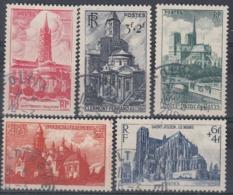 +B1593. France 1947. Cathédrales & Basiliques. Yvert 772-75. Cancelled - France