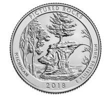 USA. 25 Cents. Quarter. The 41st Park. 2018. UNC. Pikchestd Rocks. P - Bondsuitgaven