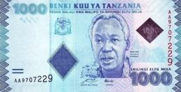 TANZANIA 1000 SHILLINGS ND (2011) P-41a UNC SIGN. MKULO & NDULU [TZ140a] - Tanzania