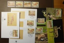 WWF  Bahrain 1993 Gazelle Antilope   Mi-Nr. 511-514 Maxi Card FDC MNH ** #cover 4926 - W.W.F.