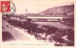 C P A 76] Seine Maritime > Fécamp Avenue Gambetta Les Voies De Chemin De Fer - Fécamp
