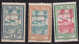 Inini N° 1 à 3** TAXE - Inini (1932-1947)