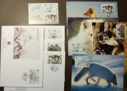Finland Soumi 1993 Mi 1202-1205 MNH WWF WOLVES  Maxi Card FDC MNH ** #cover 4927 - W.W.F.