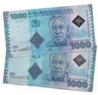 TANZANIA 1000 SHILLINGS ND (2011) & 2015 P-41a & 41b UNC 2 DIFFER. SIGN [TZ140a&b] - Tanzania