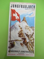 Dépliant SUISSE 4 Volets X 2/Kleine Scheidegg/Oberland Bernois/Panorama Jungfraugebeit/Interlaken/Vers 1940-1960  PGC395 - Dépliants Touristiques