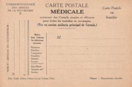 Carte Postale Médicale, No 2, Pour éviter La Diarrhée Et Le Choléra, 2 Scans - Guerre 1914-18