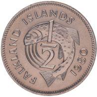 The Falkland Islands. Coin. 1/2 Penny. 1980. UNC. A Fish - Falklandeilanden