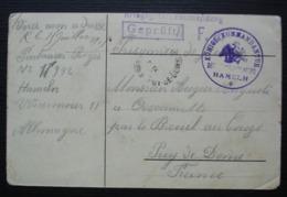 Hameln (hamelin) Cachet Du Camp De Prisonnier  Sur Carte Pour Breuil Sur Couze (Puy De Dôme) (Régis Fontanier) - Guerre De 1914-18