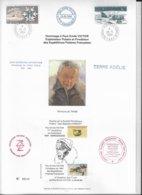 CA4 - Encart TERRE ADELIE - Hommage à Paul Emile Victor Du 28.6.1984 - Cachets Divers - Timbres TAAF - - Terres Australes Et Antarctiques Françaises (TAAF)