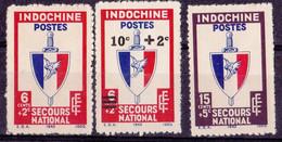 ⭐ Indochine - YT N° 281 à 283 ** - Neuf Sans Charnière - 1943 / 1944 ⭐ - Ungebraucht