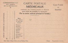 Carte Postale Médicale, No 4, Pour éviter Le Tétanos, La Gangrène, L'Ophtalmie, 2 Scans - Guerre 1914-18