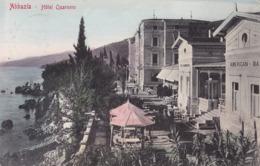 Opatija (Abbazia) * Hotel Quarnero, Terrasse, Strand * Kroatien * AK1154 - Kroatië