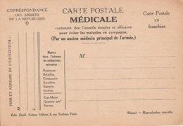 Carte Postale Médicale, No 5, Pour éviter Les Pieds Gelés, Relève D'un Camarade Blessé, 2 Scans - Guerre 1914-18