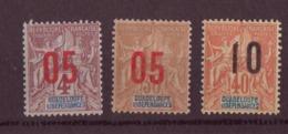Guadeloupe N° 72 à 74** - Guadalupe (1884-1947)