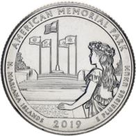 "USA 25 Cents (a Quarter) 2019 P ""47th Park - Memorial Park"" UNC - 2010-...: National Parks"