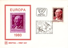 FDC - Europa CEPT Robert Stolz Musik Komponist 1980 Ersttag - FDC