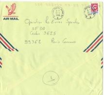 Enveloppe Lettre Poste Aérienne AIR MAIL  Oblitérations Marine Nationale  BUREAU POSTAL NAVAL 64 Du 24/4/1999 - Postmark Collection (Covers)