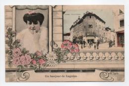 - CPA LAGNIEU (01) - Un Bonjour De Lagnieu - Place De La Grenette - Edition R. J. - - Autres Communes
