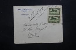 MAROC - Enveloppe D'Hôtel De Rabat Pour Paris En 1928 Par Avion, Affranchissement Plaisant - L 42899 - Marokko (1891-1956)