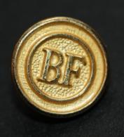 Rare ! Bouton D'uniforme De La Banque De France (petit Modèle) Bouton Doré - Uniformes