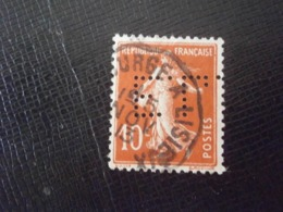 FRANCE TIMBRE SEMEUSE 138 EL99 PERFORE PERFORES PERFIN PERFINS PERFORATION PERFORIERT LOCHUNG PERFORATI PERCE PERFO - Perforés