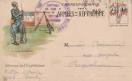 Correspondance Des Armées De La République - La Garde Du Drapeau, Illustration De Job. Expédiée De Toulon - Guerre 1914-18