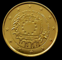 FRANCE 2015 - 2 EUROS COMMEMORATIVE - DRAPEAU EUROPEEN - PLAQUE OR - France