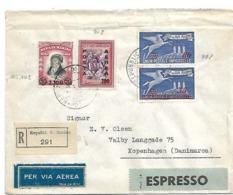 SM013/ Luftpost Express-Einschreiben, Pegasus San Marino Nach Dänemark - Saint-Marin