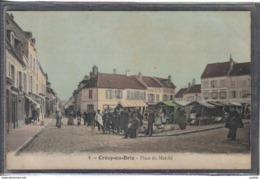 Carte Postale 77. Crécy-en-Brie  Place Du Marché   Très  Beau Plan - Autres Communes